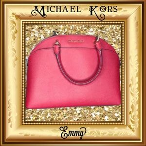 "Michael Kors large dome ""Emmy"" SCARLET"